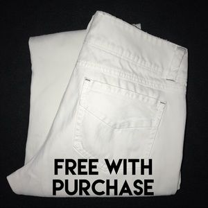 Cabi White Straight Leg Jeans Women's 8 31